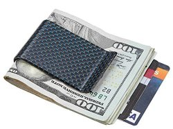 Carbon Travelambo Fiber Money Clip Front Pocket Wallet Minimalist Wallet Slim Wallet Credit Business Card Holder Cb Blue