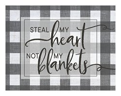 "Kindred Hearts 1-487 Lightbox-insert Buffalo Plaid Steal My Heart 9 3 4"" X 7 1 2"" Multicolor"
