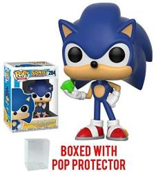 USAB Funko Pop Games: Sonic The Hedgehog - Sonic With Emerald Vinyl Figure Bundled With Pop Box Protector Case