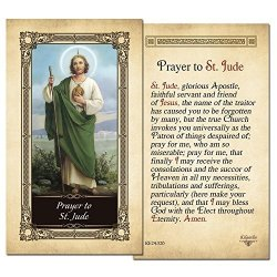 ShopCatholic St.jude Laminated Holy Card - Pack Of 25
