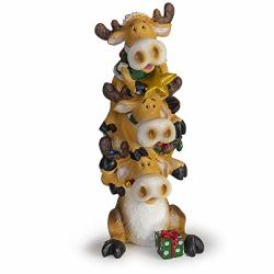 Besti Holiday Christmas Moose Stacker Figurines - Collectable Decorative Christmas Figurines - Lovely Holiday Design - Perfect For Table Centerpiece Photo Shoot - Original