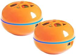 Grandmax Set Of 2 Orange Tweakers Teeny Portable Speaker - Comes With 3.5MM Audio Plug Connects To Ipod Iphone And Most Popular