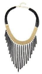 Bib Necklace Fashion Jewelry Accessories Women Stylish Trends Dress Costume Female Gold Tone Silver Tone Yellow