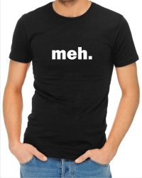 Mens Meh T-Shirt Black Xx-large