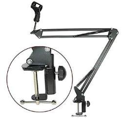 NNDA CO MIC Arm Stand Microphone Suspension Boom Scissor Holder For Studio Broadcast