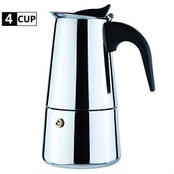 WeHome Coffee Maker Percolator Stovetop Espresso Maker Moka Pot Stainless Steel Italian Coffee Maker With Permanent Filter And Heat Resistant Handle Ideal To Brew
