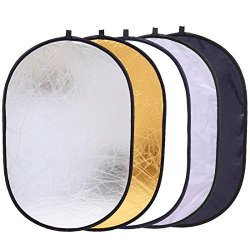 Silver//Translucent//Gold//White//Black Folding Photo Studio Reflector Board ZQ House 60cm 5 in 1
