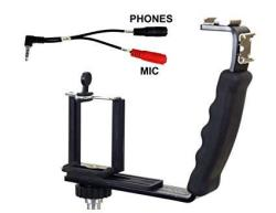 Alzo Smartphone Streaming Video Rig With MIC Headphone Breakout Cord For Audio Monitoring