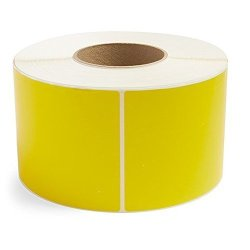 """BESTeck Yellow 4"""" X 6"""" Direct Thermal For Zebra 2844 ZP-450 ZP-500 ZP-505 Shipping Labels 1"""" Cores 250 Labels Per Roll Permanent Adhesive Perforations Between Labels 2 Rolls"""