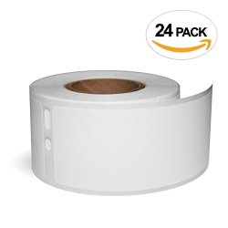 """Office LABELS 24 Rolls Of 30251 Compatible Address Labels For Dymo 1-1 8"""" X 3-1 2"""" 28MM X 89MM By"""