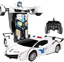 USA Aiojy Oversized Charging Robot Transformers Transforms Children Toys Cars Police Remote Controlled Car Boy 10 Years Old New Year's For Children Rc Veh
