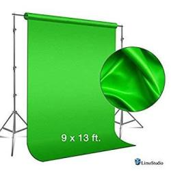 LimoStudio 9 Foot X 13 Foot Green Fabricated Chromakey Backdrop Background Screen For Photo Video Studio AGG1846