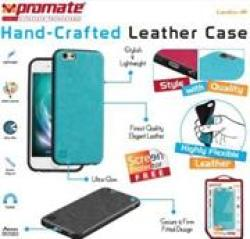 Promate Lanko-i6 Leather Flexible Snap-on Blue Case