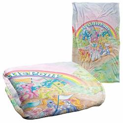 """Trevco My Little Pony Retro Classic Ponies Silky Touch Super Soft Throw Blanket 36"""" X 58"""