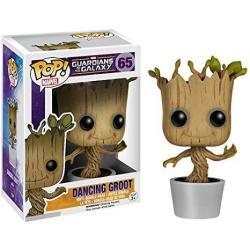 Funko Dancing Groot: Guardians Of The Galaxy X Pop Marvel Vinyl Figure & 1 Pop Compatible Pet Plastic Graphical Protector Bundle 065 05104 - B