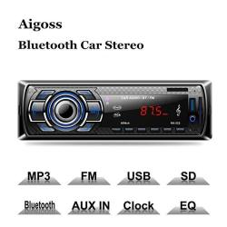 Aigoss Bluetooth Car Stereo 4X60W Digital Media Receiver With Remote Control Car Speakerphone Hand-free Call Support Usb sd audi