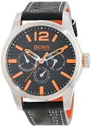 Boss Orange Men's 1513228 Paris Analog Display Quartz Black Watch