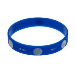Leicester City - Club Crest & Text Foxes Never Quit Single Wristband