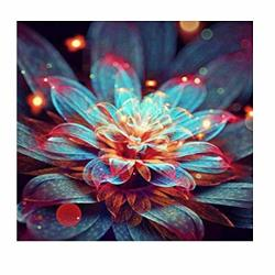 Sunnysport Diamond Painting Kits 5D Diy Christmas Full-crystal Rhinestone Painting-decorating Cabinet Table Stickers For Study Room Flower Painting 30CM30CM-A