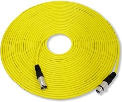 GLS Audio 50FT MIC Cable Patch Cord - Xlr Male To Xlr Female Yellow Microphone Cable - 50' Balanced Mike Snake Cord