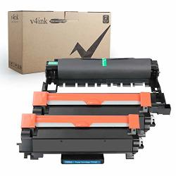 V4INK Compatible Toner Cartridge And Drum Unit For BrOther TN760 TN-760 TN730 And DR730 2 TONER&1 Drum
