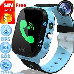 Speed Talk Sim Card Included 1.44 Kids Smart Watch Gps Tracker Boys Girls Touch Screen Phone Smartwatch Sos Call Anti-lost Camer