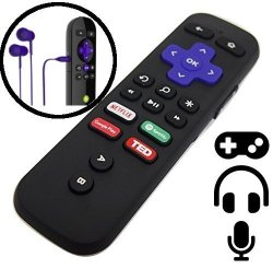 ENWShop Replacement Enhanced Roku Voice Remote For Roku 4K Players Ultra  Premiere+ Roku 4  With Headphone Jack And Voice Search  | R1560 00 |  Handheld