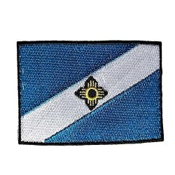 """City Of Madison Flag Patch flags Of Wisconsin Collection Mad Wi 2"""" X 3"""""""