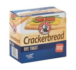 Bakers Crackerbread Savoury Biscuits Rye 1 X 125G