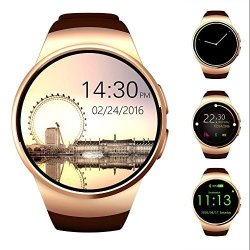 AWOW Bluetooth Fitness Fashion Cool Android Smart Watch For Men With Camera Heart Rate Support Sim T