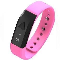 EFOSHM Pink Upgrated K5 Plus Wireless Activity And Sleep Monitor Pedometer Smart Fitness Tracker Wri