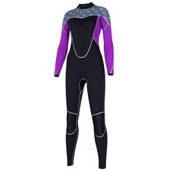 Excursion Sports Women One Piece Rash Guard Uv Protection Long Sleeves Stretch Full Body Wetsuit Zipper Skin Bathing Suit For Sw