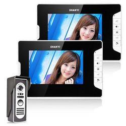 Ennio 7 Inch Video Door Phone Doorbell Intercom Kit 1-CAMERA 2-MONITO