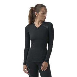 Unen Sub Sports Womens Long Sleeve Compression Top Running Vest Moisture Wicking L