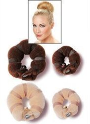 Hot Buns 759shop 2 Piece Magic Hair Styling Styler Twist Ring Former Shaper Doughnut Donut Chignon Bun Maker Clip Hair Curler Ac R530 00