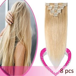 9a42c9af206 US Elailite Store Clip In On Hair Extensions Remy Human Hair Standard Weft  18 Inch 70G 8 Pcs 18 Clips Thick Soft Silky Straight | R1690.00 | Haircare  ...