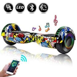 """Epctek 6.5"""" Hoverboard Self Balancing Hoverboards With LED Light Free Carry Bag - UL2272 Certified Hover Board For Adults Kids"""