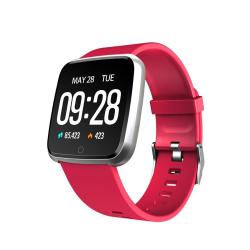 Y7 1.3 Inch Ips Color Screen Smart Bracelet IP67 Waterproof Support Call Reminder Heart Rate Monitoring Pedometer Blood Pressure Monitoring Remote Photo Red