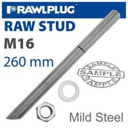 RawlPlug Mild Steel Stud M16-260MM