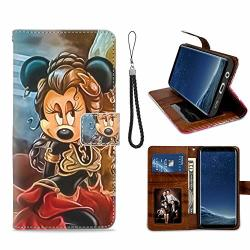 Disney Collection Minnie Mouse Star Wars Cool Music Wallet Case For Samsung Galaxy S8 Plus Samsung Galaxy S8+ Pu Leather With Wrist Strap Kickstand