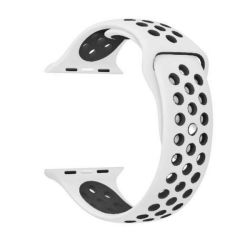 White And Black 38MM M l Nike Style Strap Band For Apple Watch