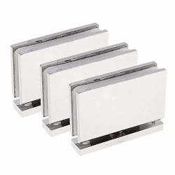 Serenable 3PCS 360 Stainless Steel Brushed Finish Wall To Glass Shower Door Hinge