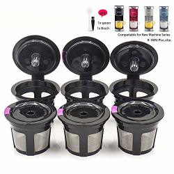 Coffee Reusable Filter Replacement For Keurig K MINI Plus Refillable K Cupsules 2.0 1.0 Small Pod Single Reuable Capsules BLACK 6