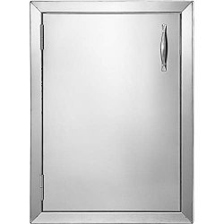 Mophorn Bbq Access Door 16 X 22 Inch Vertical Outdoor Kitchen Door Left Hinged Stainless Steel Access Door For Outdoor Kitchen