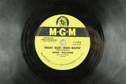 Hank Williams - Hot Country Mgm 78 Rpm Record - Weary Blues From Waitin'