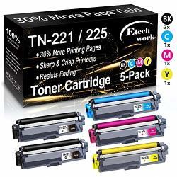 5-PACK 2BK+C+Y+M Compatible TN-221 TN221 Toner Cartridge TN-225 TN225 TN221 225 Used For Brother MFC-9340CDW 9330CDW 9130CW HL-3170CW 3180CDW DCP-9020CDN Printer By Etechwork