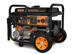 WEN DF1100T 11 000-WATT 120V 240V Dual Fuel Portable Generator With Wheel Kit And Electric Start - Carb Compliant