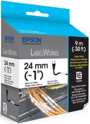 Epson LC-6WBC9 Cable Wrap Easy Peel Label Black On White Ink