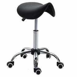 Mkvfa Saddle Stool Rolling Chair For Office Massage Salon Kitchen Spa Drafting Bar Stools With Adjustable Hydraulic With Wheels