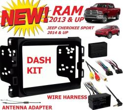 ANT METRA 95-6518B DOUBLE DIN STEREO DASH KIT FOR 2013 DODGE RAM INTERFACE